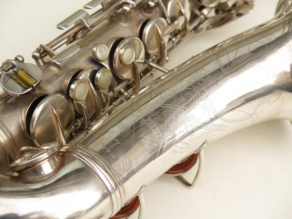 Saxophone alto Conn 6M 8 US Army argenté sablé ladyface (5)