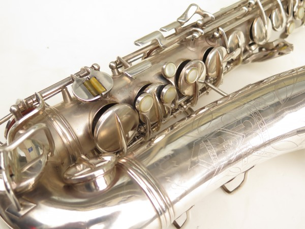 Saxophone alto Conn 6M 8 US Army argenté sablé ladyface (6)