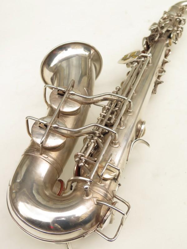 Saxophone alto Conn 6M 8 US Army argenté sablé ladyface (7)