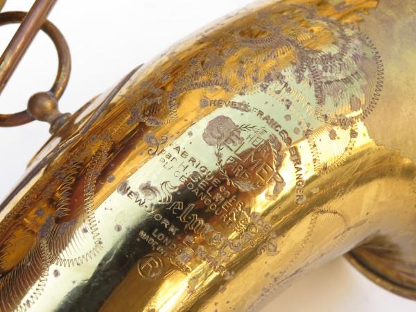Saxophone ténor Selmer Mark 6 verni gravé (1)
