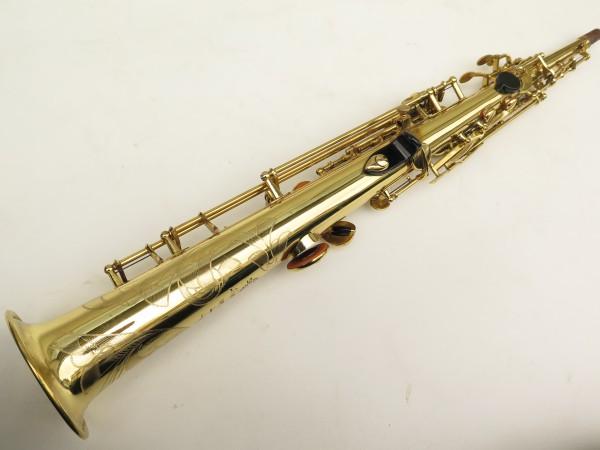 Saxophone soprano Selmer Mark 6 verni gravé (15)