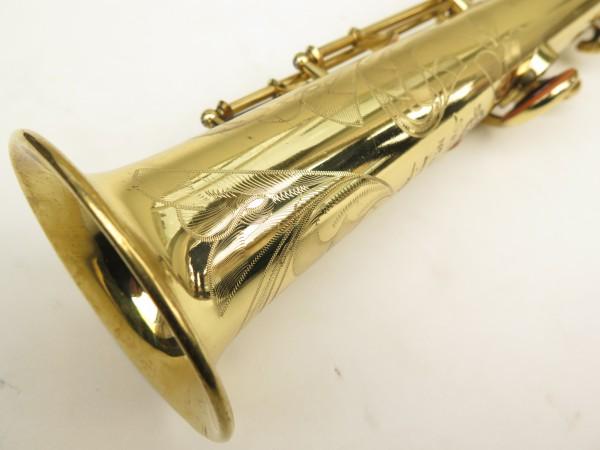 Saxophone soprano Selmer Mark 6 verni gravé (5)