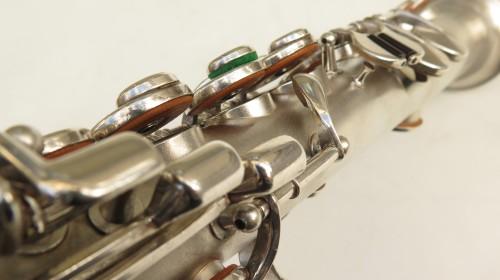 Saxophone soprano King argenté sablé (1)