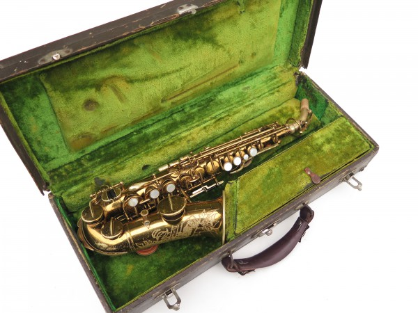 Saxophone soprano courbe Buescher True Tone verni (12)