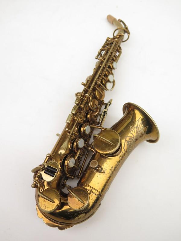 Saxophone soprano courbe Buescher True Tone verni (14)