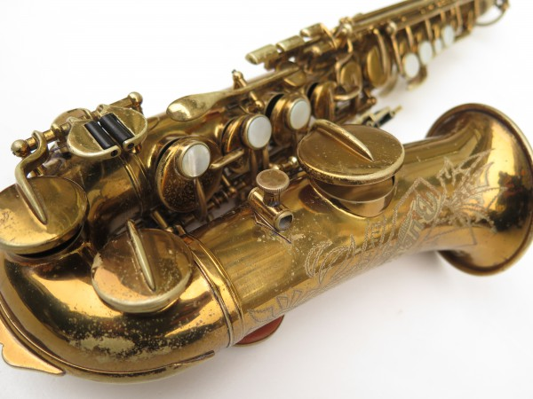Saxophone soprano courbe Buescher True Tone verni (15)