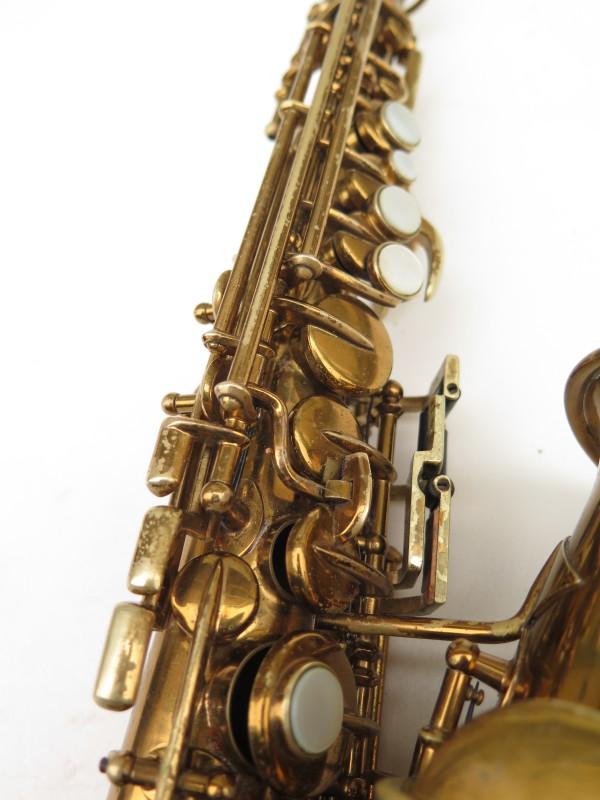 Saxophone soprano courbe Buescher True Tone verni (17)