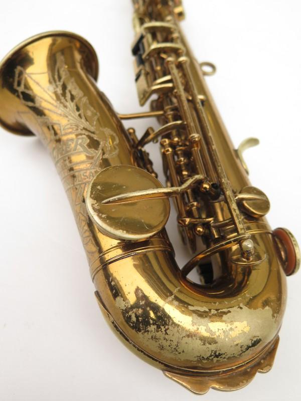 Saxophone soprano courbe Buescher True Tone verni (18)