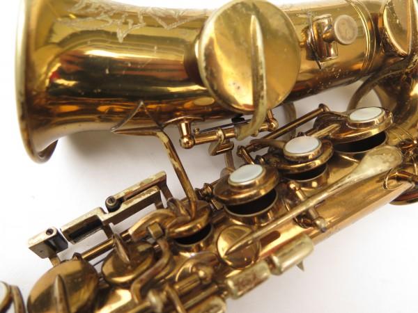 Saxophone soprano courbe Buescher True Tone verni (4)