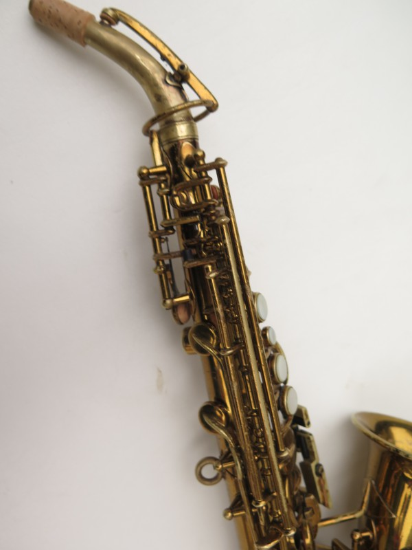 Saxophone soprano courbe Buescher True Tone verni (5)