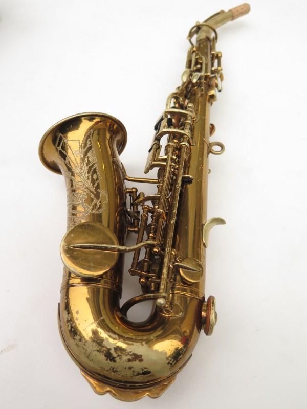 Saxophone soprano courbe Buescher True Tone verni (6)