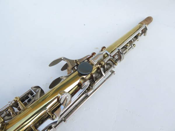 Saxophone soprano Couesnon Monopole verni clétage nickelé (13)