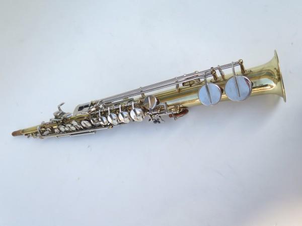 Saxophone soprano Couesnon Monopole verni clétage nickelé (7)