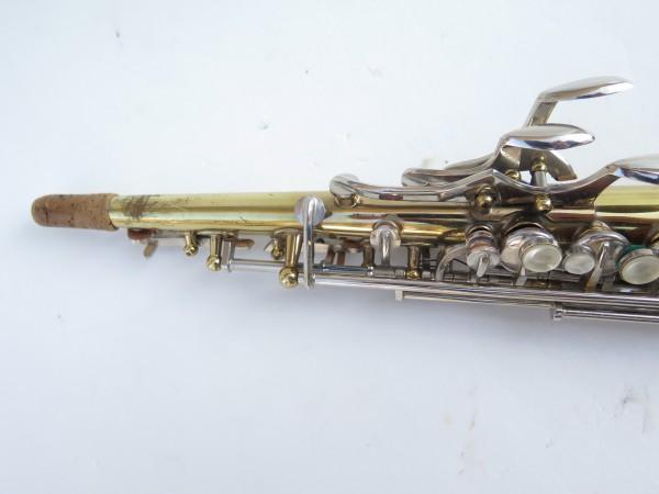 Saxophone soprano Couesnon Monopole verni clétage nickelé (9)