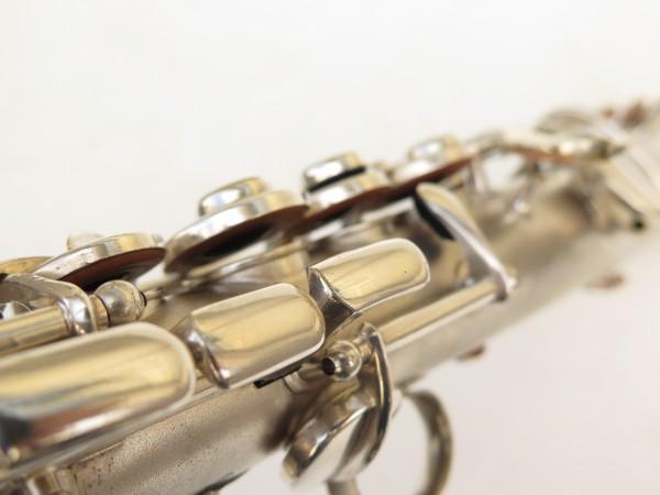 Saxophone soprano Conn argenté gravé (10)