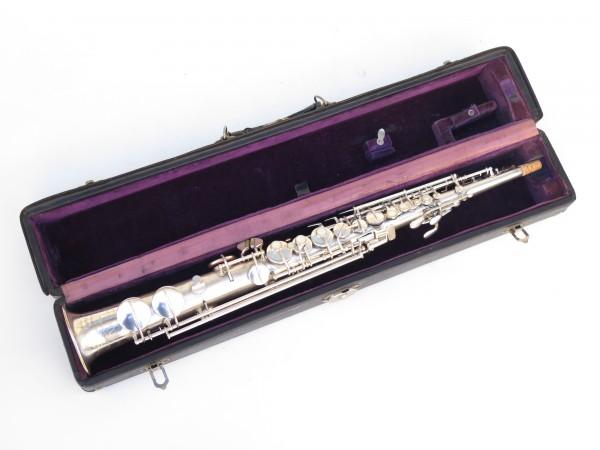 Saxophone soprano Conn argenté gravé (13)