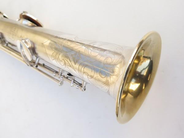 Saxophone soprano Conn argenté gravé (15)