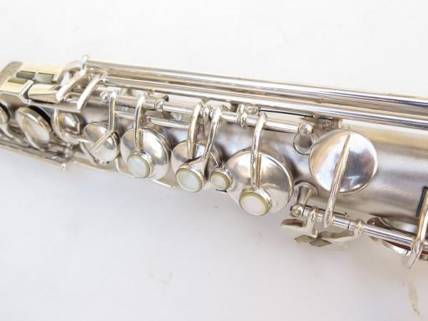 Saxophone soprano Conn argenté gravé (17)
