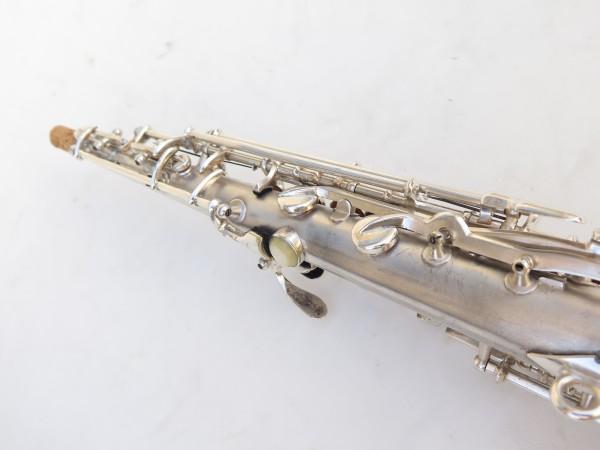 Saxophone soprano Conn argenté gravé (18)