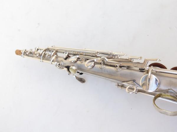 Saxophone soprano Conn argenté gravé (20)