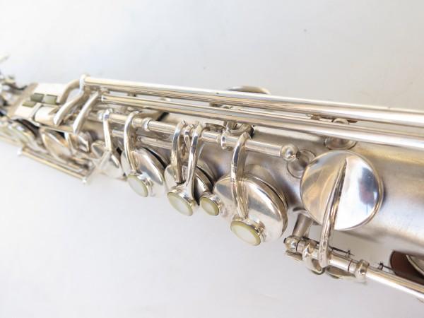 Saxophone soprano Conn argenté gravé (22)
