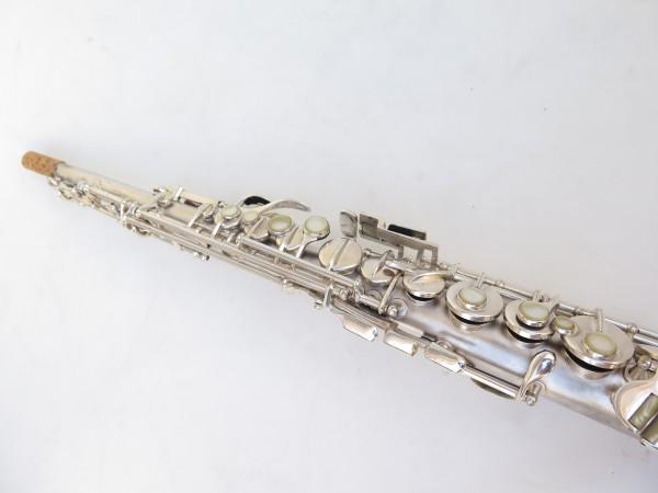 Saxophone soprano Conn argenté gravé (24)
