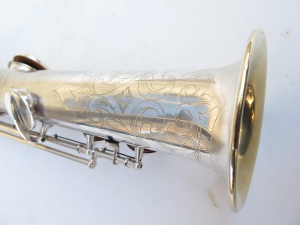 Saxophone soprano Conn argenté gravé (26)