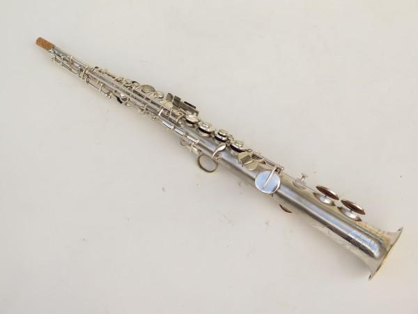 Saxophone soprano Conn argenté gravé (27)