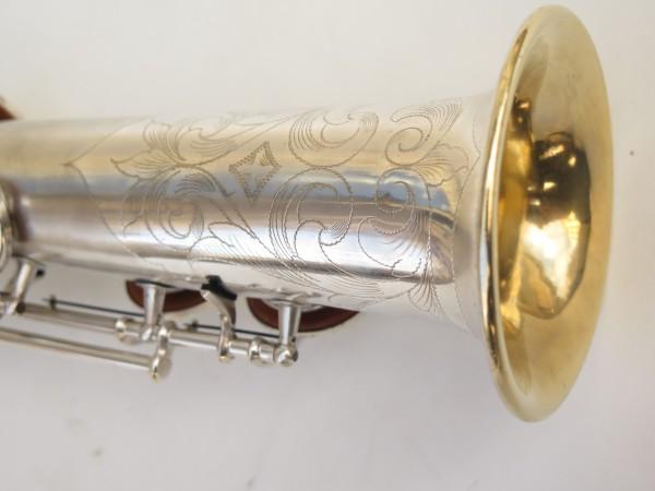 Saxophone soprano Conn argenté gravé (4)