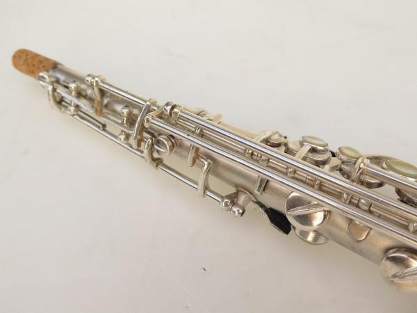 Saxophone soprano Conn argenté gravé (7)