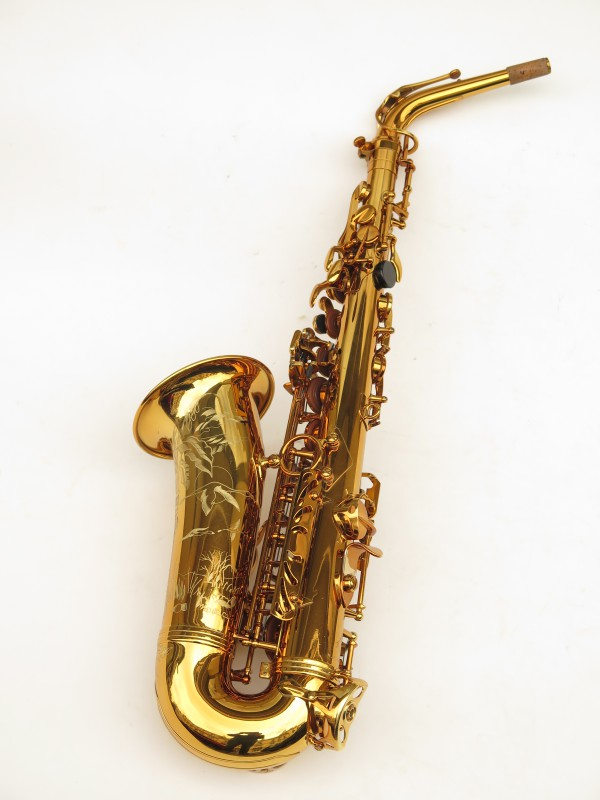 Saxophone alto Selmer Reference 54 verni gravé limited edition flamingo africa sans fa# (10)