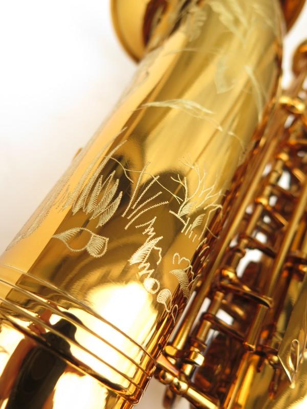 Saxophone alto Selmer Reference 54 verni gravé limited edition flamingo africa sans fa# (11)