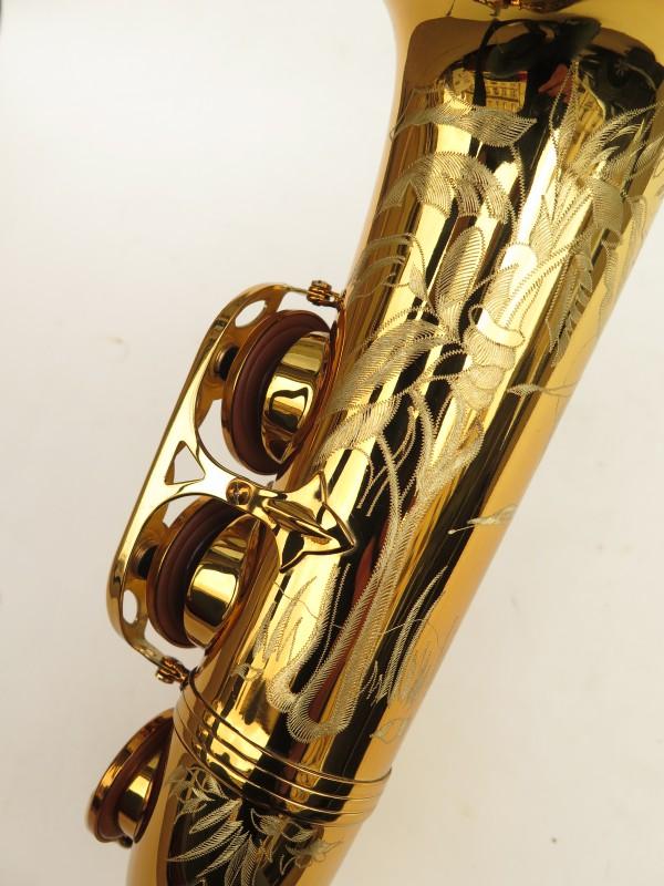 Saxophone alto Selmer Reference 54 verni gravé limited edition flamingo africa sans fa# (12)