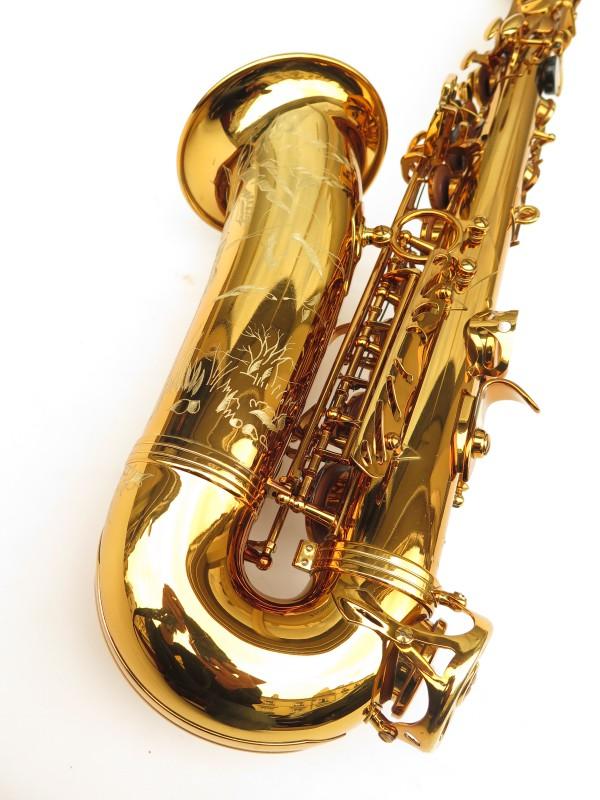 Saxophone alto Selmer Reference 54 verni gravé limited edition flamingo africa sans fa# (17)