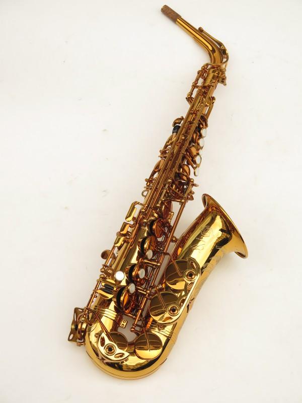 Saxophone alto Selmer Reference 54 verni gravé limited edition flamingo africa sans fa# (9)