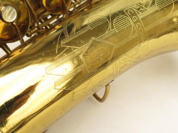 Saxophone ténor Conn 10 verni gravé ladyface (1)