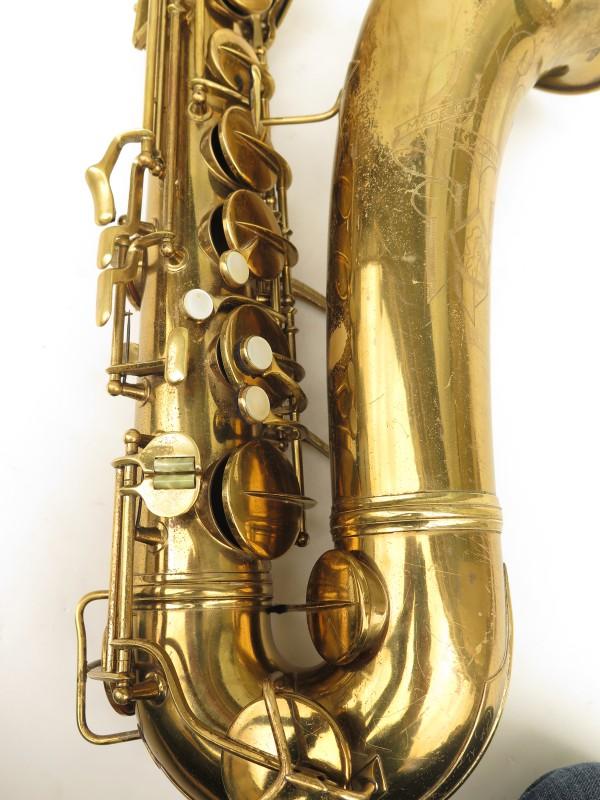 Saxophone ténor Conn transitionnel 10M verni gravé ladyface (12)