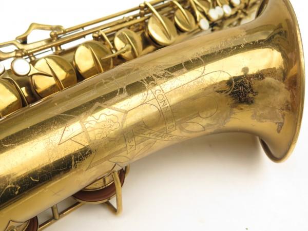 Saxophone ténor Conn transitionnel 10M verni gravé ladyface (16)