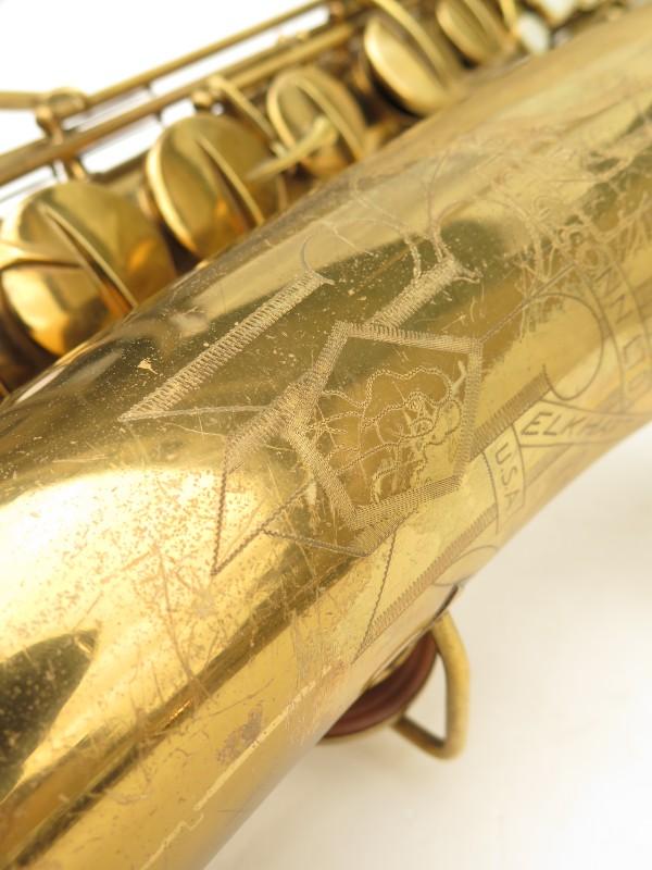 Saxophone ténor Conn transitionnel 10M verni gravé ladyface (21)