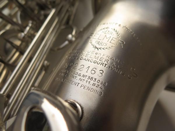 Saxophone alto Selmer Balanced Action argenté sablé clétage additionnel américain (1)