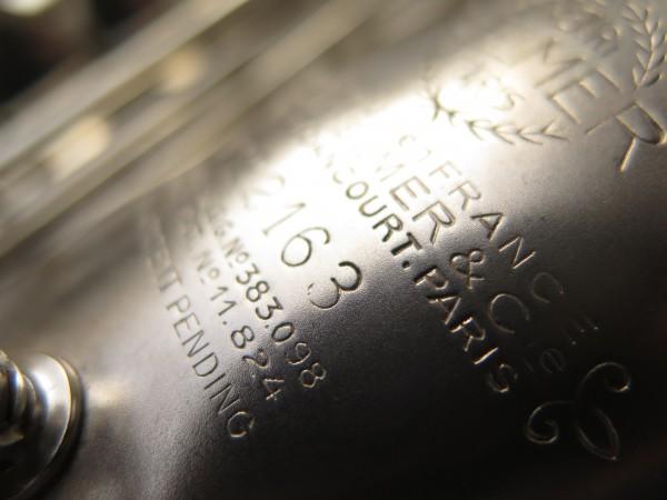 Saxophone alto Selmer Balanced Action argenté sablé clétage additionnel américain (13)