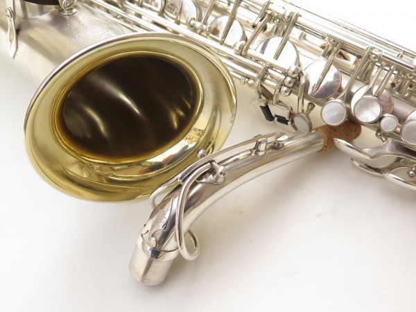 Saxophone alto Selmer Balanced Action argenté sablé clétage additionnel américain (19)