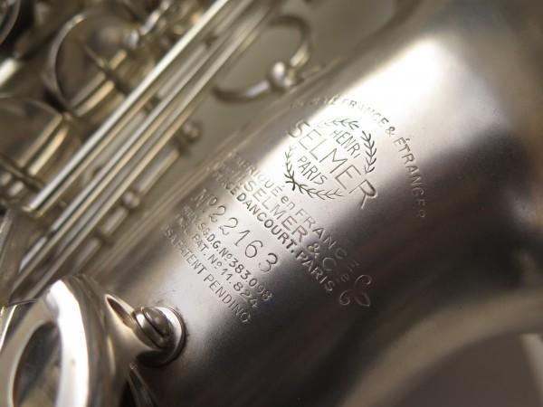 Saxophone alto Selmer Balanced Action argenté sablé clétage additionnel américain (8)