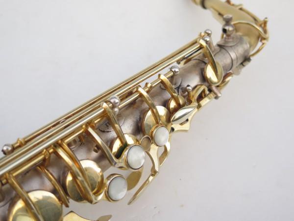 Saxophone soprano Dolnet Artiste argenté sablé plaqué or (10)