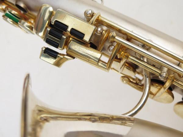 Saxophone soprano Dolnet Artiste argenté sablé plaqué or (11)