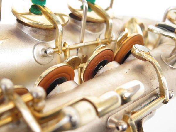Saxophone soprano Dolnet Artiste argenté sablé plaqué or (12)
