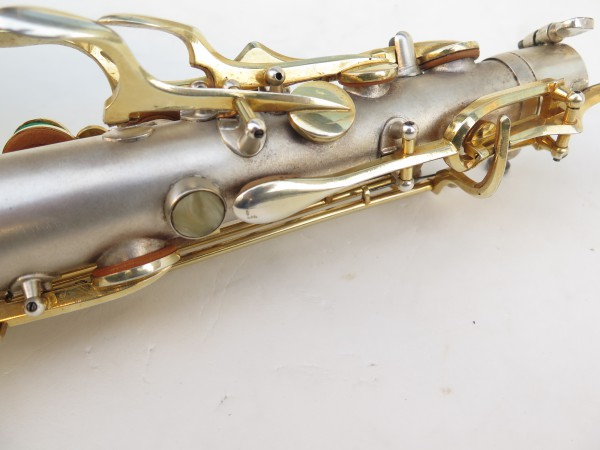 Saxophone soprano Dolnet Artiste argenté sablé plaqué or (13)