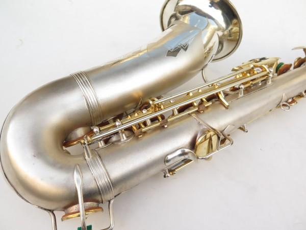Saxophone soprano Dolnet Artiste argenté sablé plaqué or (14)
