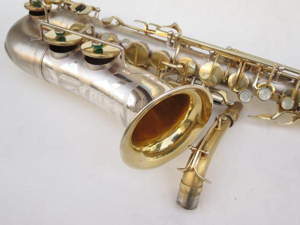 Saxophone soprano Dolnet Artiste argenté sablé plaqué or (2)