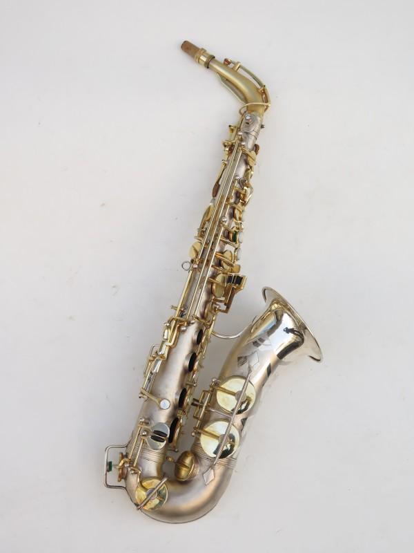 Saxophone soprano Dolnet Artiste argenté sablé plaqué or (3)